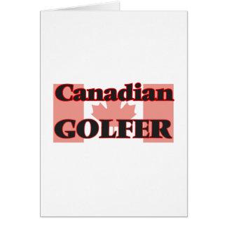 Golfeur canadien carte de vœux