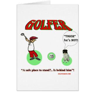 golfeur carte de vœux