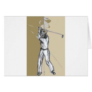 golfeur cartes de vœux