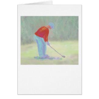 Golfeur, carte de voeux