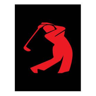 Golfeur Carte Postale