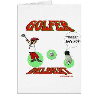 Golfeur de Delbert Carte De Vœux