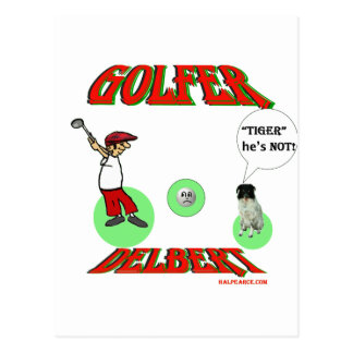 Golfeur de Delbert Carte Postale