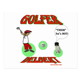 Golfeur de Delbert Cartes Postales