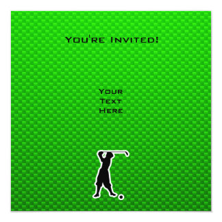 Golfeur vintage vert