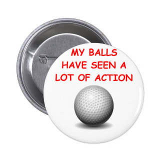 golfing 2 inch round button