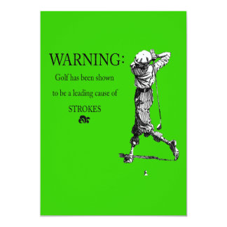 """golfing bachelor party 5"""" x 7"""" invitation card"""