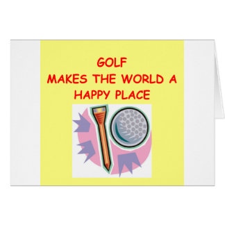 golfing card