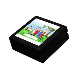Golfing Couple - Personalized Cartoon Gift Box