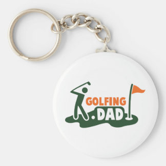 Golfing DAD Keychains