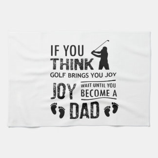 Golfing Dad Kitchen Towel