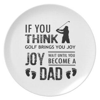 Golfing Dad Plate