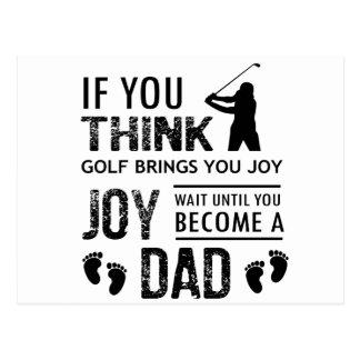 Golfing Dad Postcard