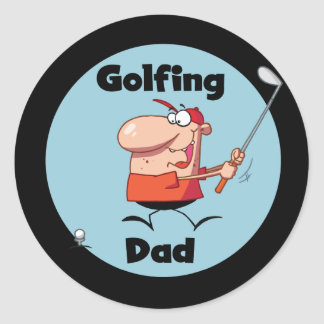 Golfing Dad Tshirts and Gifts Classic Round Sticker