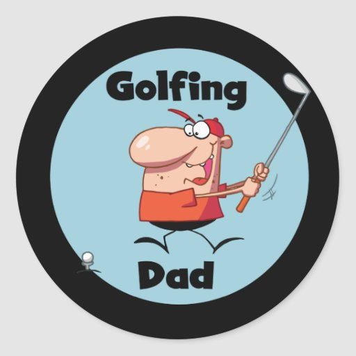 Golfing Dad Tshirts and Gifts Stickers