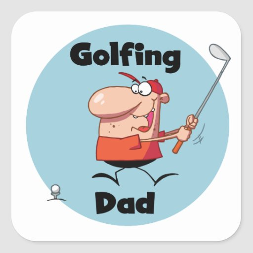 Golfing Dad Tshirts and Gifts Square Sticker