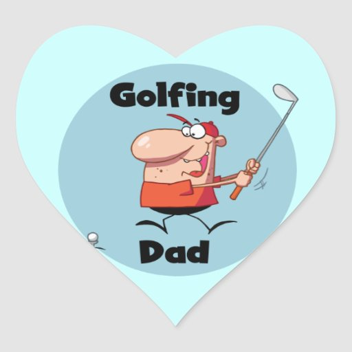 Golfing Dad Tshirts and Gifts Heart Sticker