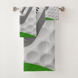 Golfing Design Bath Towel Set