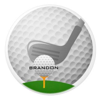 Golfing Design Ceramic Pull or Knob