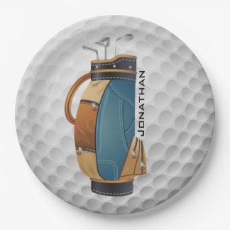 Golfing Design Paper Party Plate 9 Inch Paper Plate