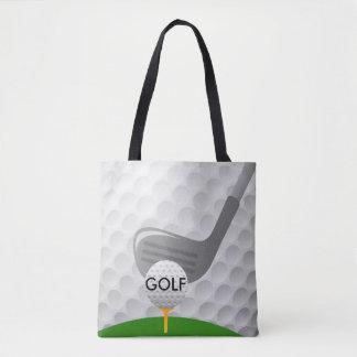 Golfing Design Tote Bag