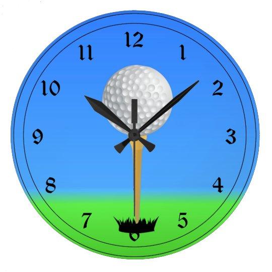 Golfing - Golf Ball on a Tee Wallclocks