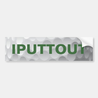 Golfing Golf putting bumper sticker. Bumper Sticker
