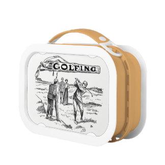 Golfing Golfer Golf Vintage Golf Player Tournament Lunchbox