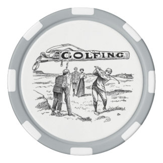 Golfing Golfer Golf Vintage Golf Player Tournament Poker Chips