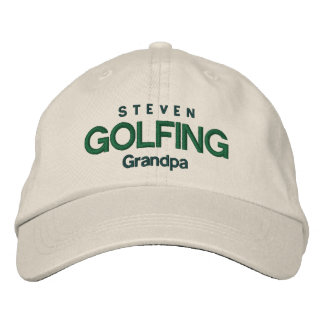 GOLFING GRANDPA Personalized Adjustable Hat V04A Embroidered Hats
