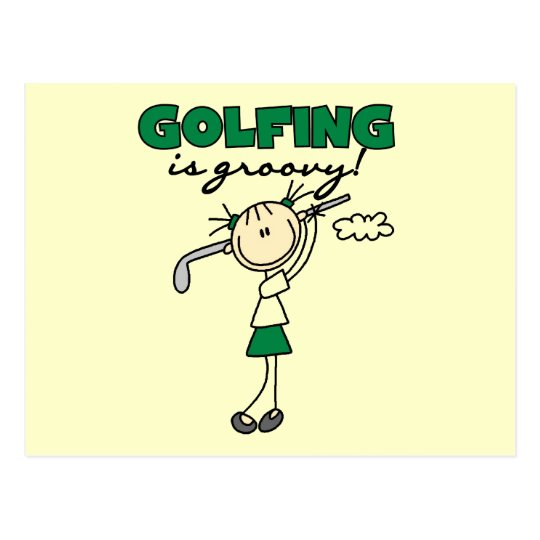 Golfing is Groovy Tshirts and Gifts Postcard