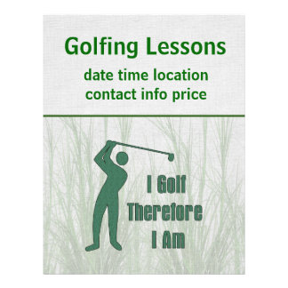 Golfing Philosophy Personalized Flyer
