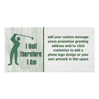 Golfing Philosophy Personalized Photo Card