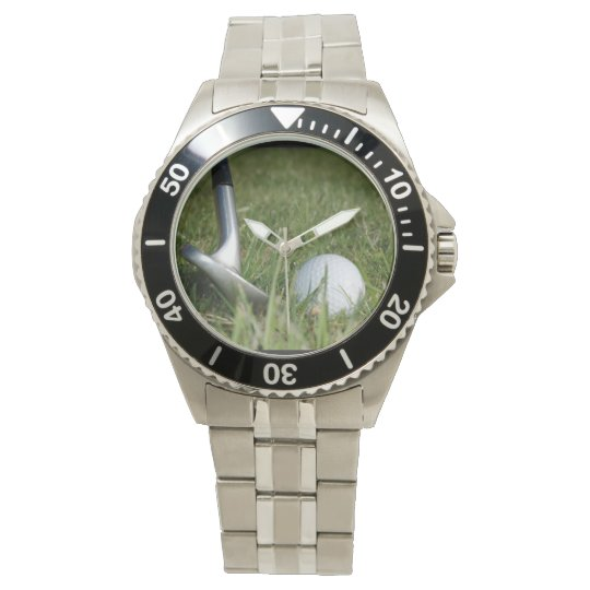 Golfing Photo Wrist Watches