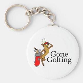 Golfing Reindeer Keychain