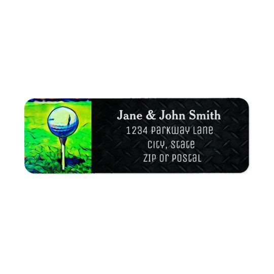 Golfing Return Address Invitation Label