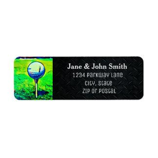 Golfing Return Address Invitation Label Return Address Label