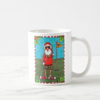 Golfing Santa Mug