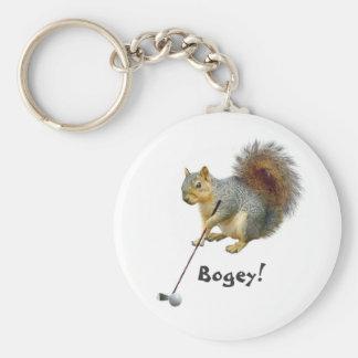 Golfing Squirrel Keychain