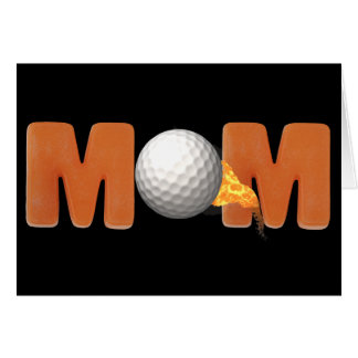 Golfing T-shirts and Gifts For Mom Greeting Card