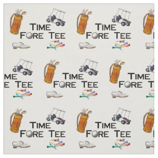 Golfing Time Fore Tee Fabric