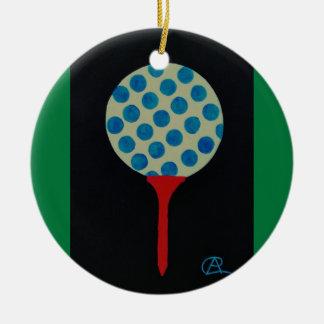 Golf's HOT Round of the Year Keepsake Round Ceramic Ornament