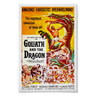 Goliath and the Dragon Vintage Movie Poster