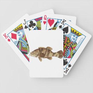 Goliath Grouper Gamefish ocean vector illustration Poker Deck
