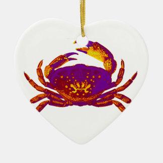 Goliath the Crab Ceramic Heart Ornament