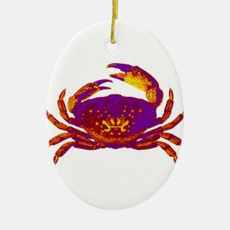 Goliath the Crab Ceramic Oval Ornament