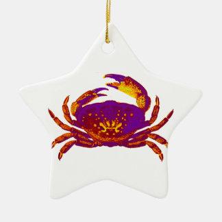 Goliath the Crab Ceramic Star Ornament