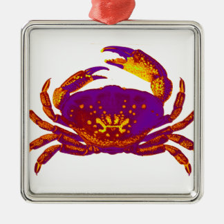 Goliath the Crab Silver-Colored Square Ornament