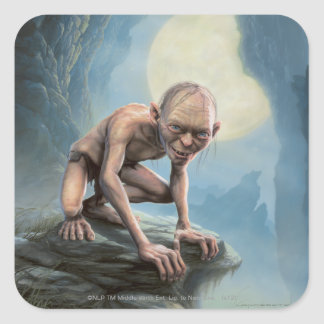 Gollum with Moon Square Sticker