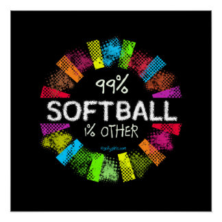 Golly filles : 99 pour cent de base-ball 1 pour perfect poster